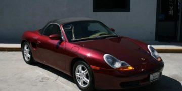 Porsche BOXSTER (1999) in BURGUNDY METALLIC (Manual)